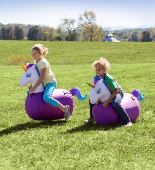 Inflatable Jump Along Unicorn - CURBSIDE ONLY