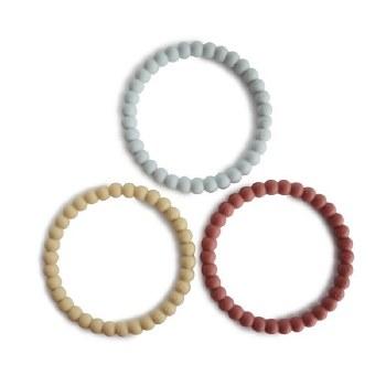 Pearl Teething Bracelet Set Mellow/Terracotta/Periwinkle