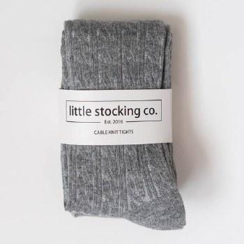 Cable Knit Tights Grey 3-4Y