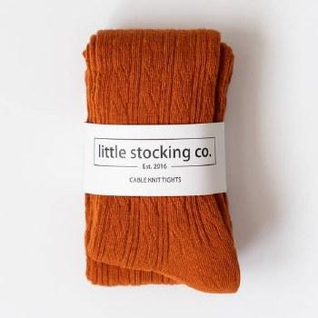 Cable Knit Tights Pumpkin 6-12
