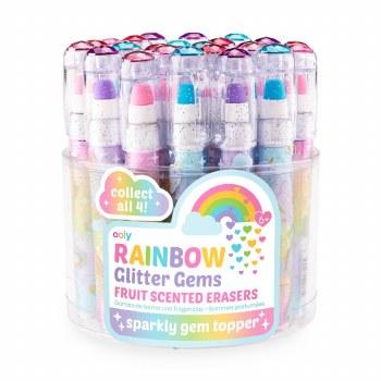 Rainbow Glitter Erasers