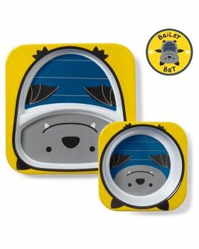Zoo Plate Bowl Set Bat