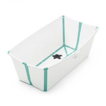 Flexi Bath White/Aqua