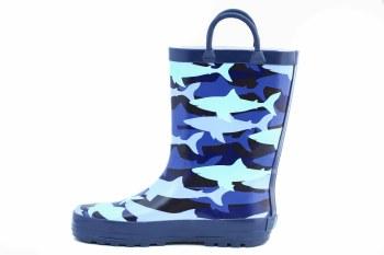 Rain Boots Blue Sharks 6T