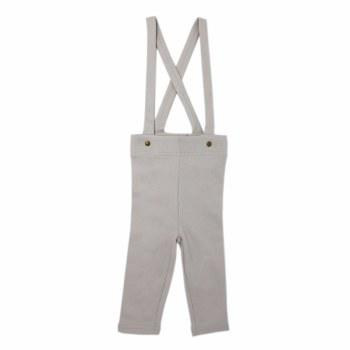 Suspender Pants Pebble 9-12m