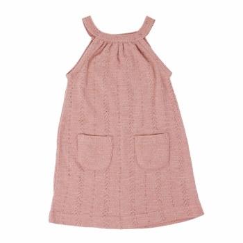 Pointelle Halter Dress Mauve 3