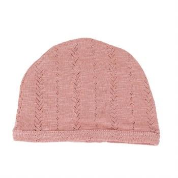 Pointelle Hat Mauve 3-6m