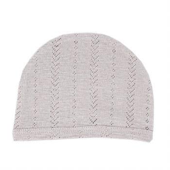 Pointelle Hat Light Grey 3-6m