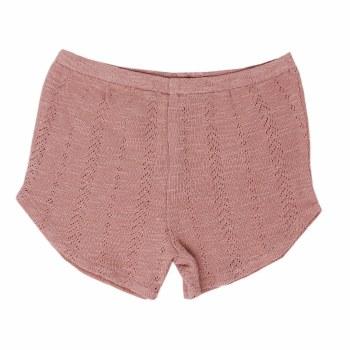 Pointelle Tap Shorts Mauve 12-18m