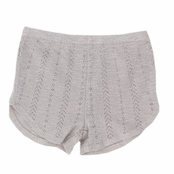 Pointelle Tap Shorts Grey 12-18m