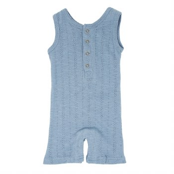 Pointelle Tank Romper Pool 3T