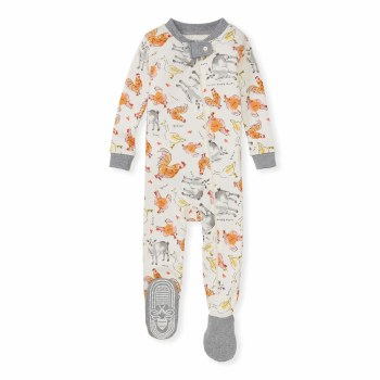 Farm Sounds Footed Sleeper 9-12m