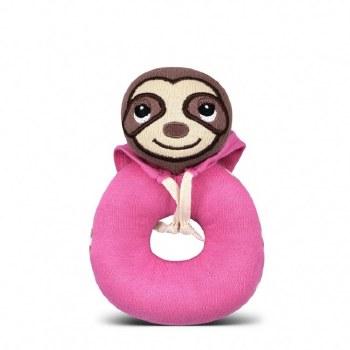 Teething Rattle Pink Sloth