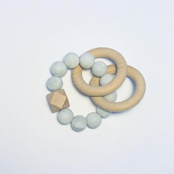 Double Ring Teether Grey