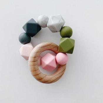 Multi Ring Teether Pink