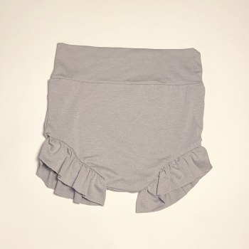 High Waisted Bloomer Silver 6-12m