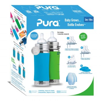 11oz Bottle Gift Set Aqua/Green