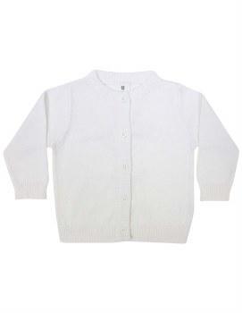 White Classic Cardigan 2Y