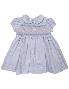 Blue Summer Smocked Dress 1Y