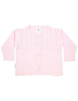 Pink Classic Cardigan 0-3m