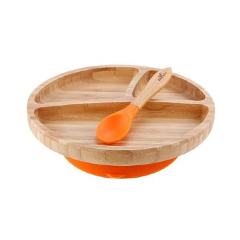 Bamboo Toddler Plates Orange