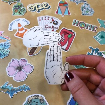 Michigan Hand Map Sticker
