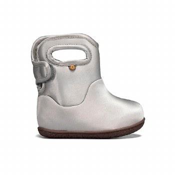Baby Bogs Metallic Silver 10