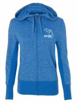 Women's Zip Hoodie Blue Small