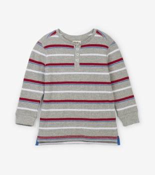 Crimson Stripe Henley 8