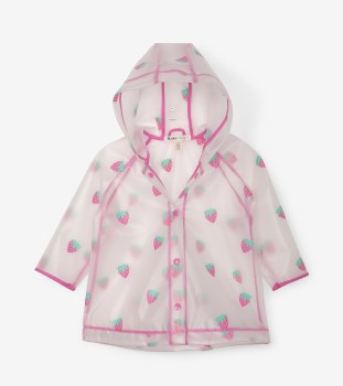 Clear Baby Rain Coat Strawberries 18-24m