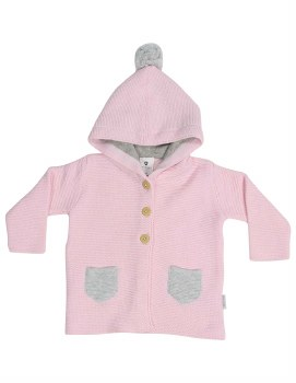 Knit Jacket Baba Sheep Pink 1Y