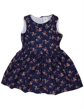 Navy Floral Dress 1Y