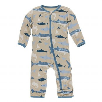 Coverall Burlap Sharks 12-18m