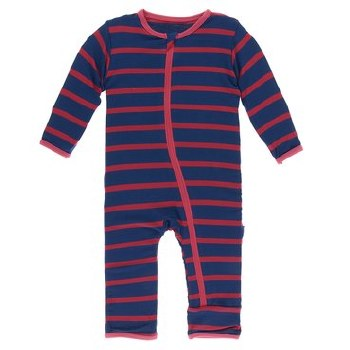Coverall Navy Stripe 9-12m