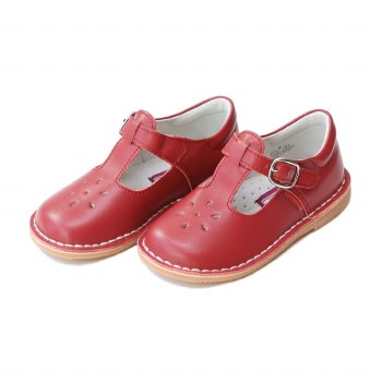 Joy Stitch Down T-Strap Red 9