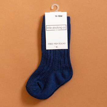 Knee High Navy 4-6Y