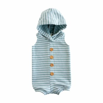 Hooded Romper Glacier 6-12m