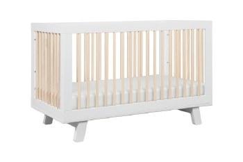 Hudson 3-in-1 Convertible Crib White/Natural