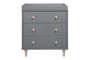 Lolly 3 Drawer Dresser Grey/Natural