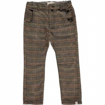 Brown Suspender Pants 3-4y