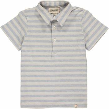 Blue/Cream Stripe Polo 4-5y