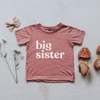 Big Sister Tee Mauve 2T