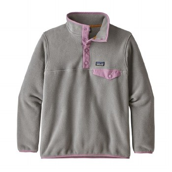 Girls' Synch Snap-T Grey Small