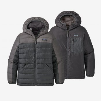 Boys' Reversible Down Sweater Noble Grey Medium