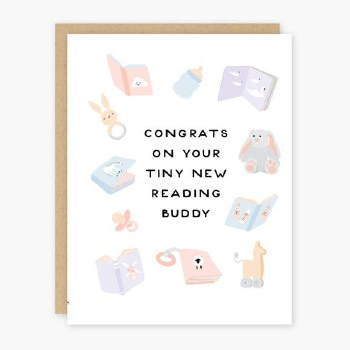 Reading Buddy Baby Card