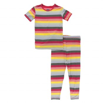 S/S PJ Biology Stripe 2T