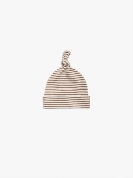 Baby Hat Rust Stripe 0-6m