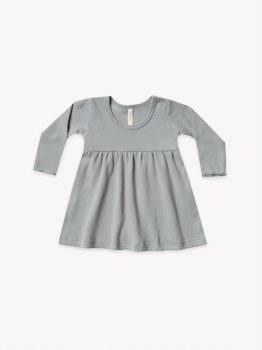 Baby Dress Dusty Blue 6-12m
