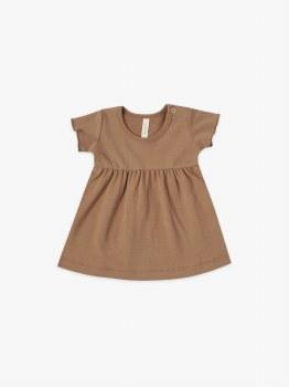 S/S Baby Dress Rust 6-12m