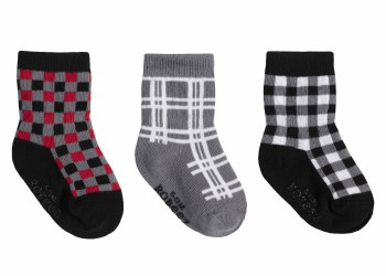 Socks Buffalo Plaid 6-12m